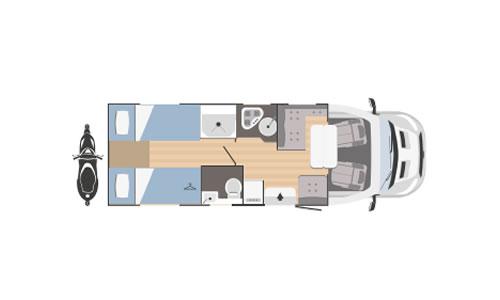 Nodes25 - Tipos de distribución interior de una autocaravana